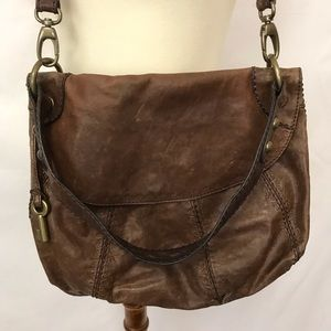 Fossil Crossbody Purse Leather Shoulder Bag Brown